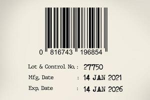 data di scadenza e data di produzione con codice a barre foto