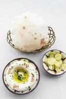 set di snack mediorientali hummus di ceci meze mezze starter set di snack foto