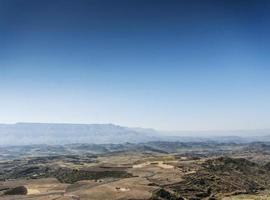 rurale africano Etiopia settentrionale montagna e campagna lansdcape vicino a lalibela foto