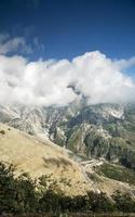paesaggio panoramico della campagna dell'albania del sud vista sulla giornata di sole vicino a sarande foto