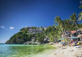 esotiche località balneari diniwid nel paradiso tropicale boracay filippine foto