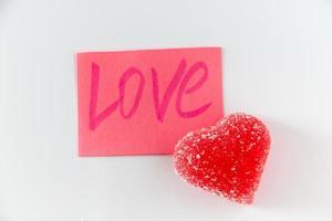 adesivo con la parola amore e marmellata foto