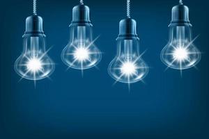 lampadina incandescente nel concetto di idea, innovazione e ispirazione foto