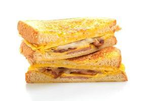 French toast prosciutto pancetta formaggio panino con uovo foto