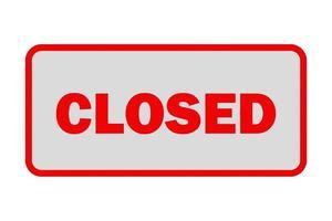segno negozio chiuso isolato su bianco foto