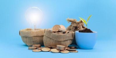 concetto di idea di risparmio di denaro foto