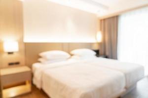 sfocatura astratta camera da letto resort hotel per lo sfondo foto