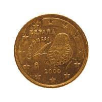 Moneta da 50 euro, unione europea, Spagna isolato su bianco foto