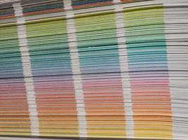 sistema di campioni di colore foto