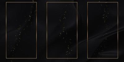 sfondo dorato della cornice di testo con strisce lucide foto