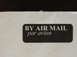 busta per posta aerea foto