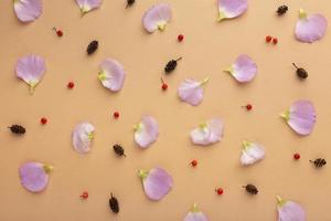 i fiori di composizione vista dall'alto foto