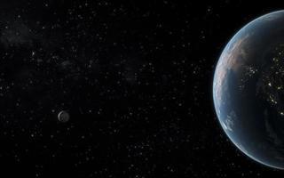 paesaggio notturno della galassia. risoluzione e bella foto di alta qualità