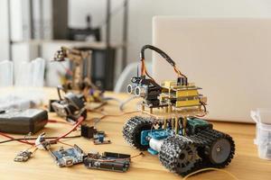 Scrivania robotica fatta in casa. risoluzione e bella foto di alta qualità