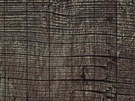 struttura in legno scuro in giardino foto
