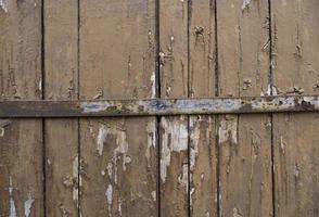 vecchia porta di legno verde foto