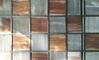 vecchio arrugginito zinco texture pattern di sfondo. foto