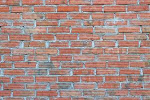 sfondo del vecchio muro di mattoni d'epoca foto