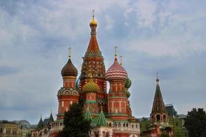 ns. la cattedrale di basilico nella famosa piazza rossa nel cuore di mosca foto