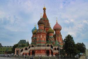 ns. la cattedrale di basilico nella famosa piazza rossa di mosca foto