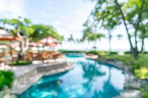sfocatura astratta resort hotel di lusso per lo sfondo foto
