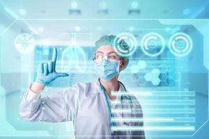 medico diagnosi coronavirus covid-19 rapporto sulla salute del paziente foto