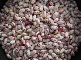 sfondo di cibo di fagioli cremisi foto