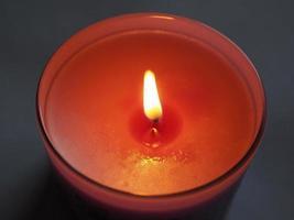 fiamma di candela profumata foto