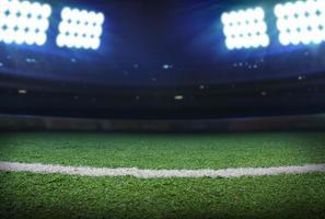 illuminazione dello stadio di calcio foto
