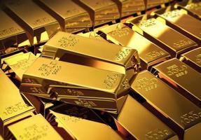 sfondo di lingotti d'oro foto