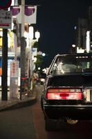 la moderna strada urbana dell'auto foto