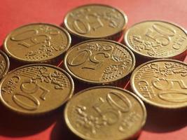 Moneta da 50 centesimi, unione europea foto