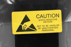 bustina antistatica per dispositivi elettronici sensibili all'elettricità statica foto