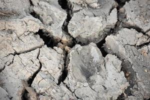 fondo di superficie al suolo incrinato siccità. concetto di disastro. foto