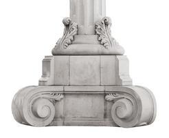 base antica colonna in marmo foto