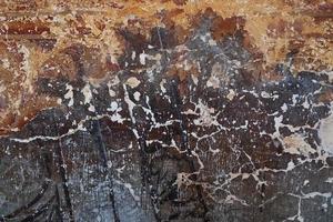 vecchia superficie verniciata marrone foto