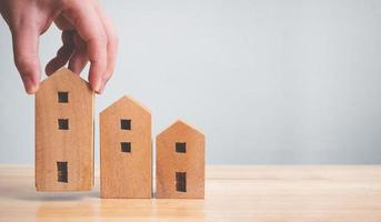 concetto finanziario di investimento immobiliare e ipotecario immobiliare foto
