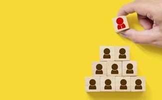 gestione delle risorse umane e concetto di business di reclutamento foto