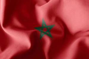 3D rendering illustrazione bandiera del Marocco foto