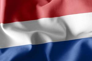 3d rendering illustrazione bandiera dei Paesi Bassi foto