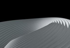 sfondo con disegno della curva della linea bianca. rendering 3d astratto foto