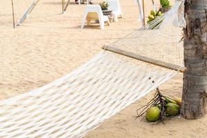culla con sfondo mare spiaggia foto