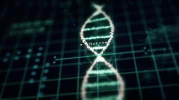 analisi del virus del laboratorio del cromosoma del DNA a spirale di tecnologia medica foto