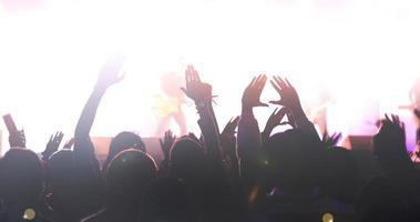 sagoma di una folla di concerti foto