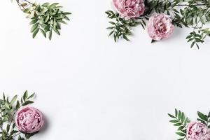 garofani rosa vista dall'alto foto