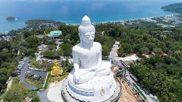 Vesak giorno sfondo concetto di grande buddha foto