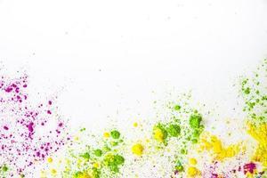 polvere colorata, biglietto di auguri holi foto