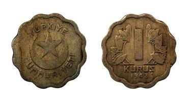 monete della repubblica turca foto