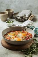 gustosa padella per uova dall'alto foto