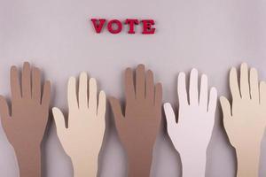 disposizione di voto in stile carta vista dall'alto foto
